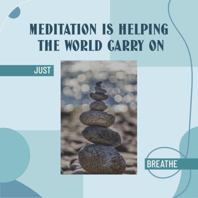 Meditation-Themed Instagram Post Design Creator 3640c
