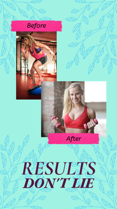 Instagram Story Template to Show Fitness Results 3638e