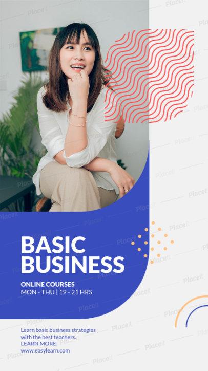 Modern Instagram Story Design Maker for Online Business Courses 3889-el1