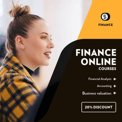 Instagram Post Template for Online Finance Courses 3842e-el1