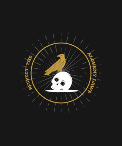 T-Shirt Design Maker With an Alchemy Theme and a Skull Clipart 3899e-el1