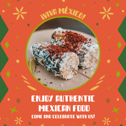 Mexican Food-Themed Instagram Post Template for a Holiday 3656b