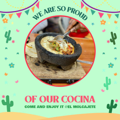 Mexican Holiday-Themed Instagram Post Creator Featuring a Traditional Dish 3656d