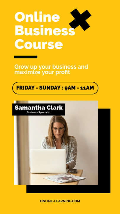 Instagram Story Generator Announcing an Online Business Course 3844c-el1