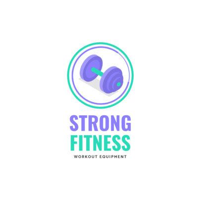 Online Logo Maker for Fitness Equipment 3903-el1