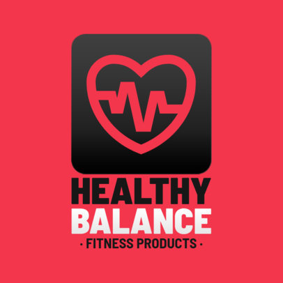Healthy-Themed Logo Template for Fitness Products 3905b-el1