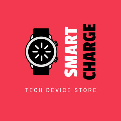 Tech Device Store Logo Creator with a Watch Graphic 3907d-el1