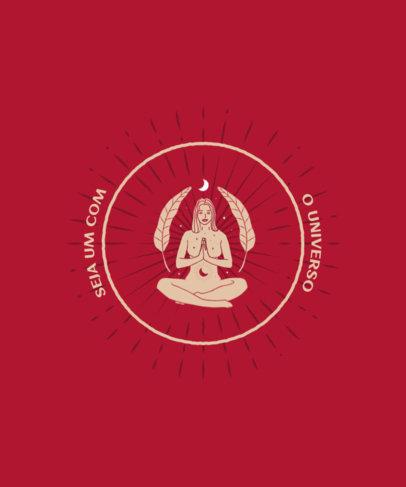 Mystical T-Shirt Design Generator With a Meditation Theme and a Circular Frame 3899d-el1