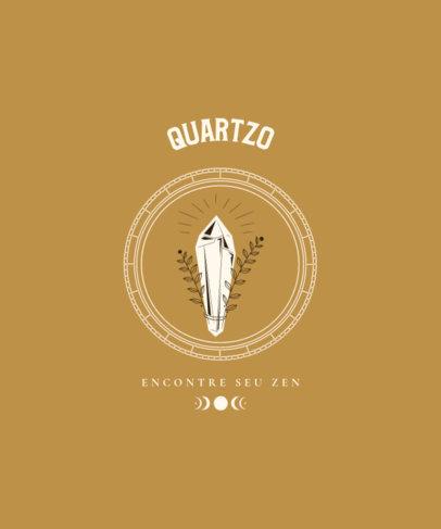 T-Shirt Design Generator Featuring a Quartz Crystal Illustration 3893c-el1