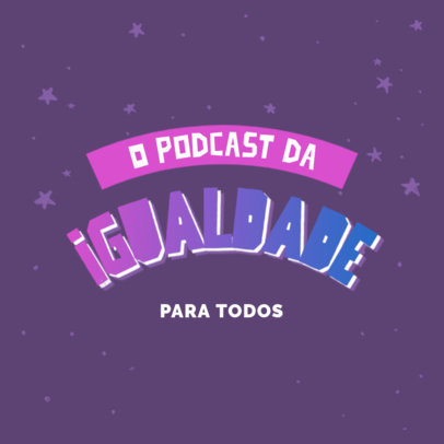 Brazilian Podcast Logo Maker with an LGTQ Theme 4323c