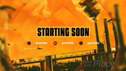 Twitch Starting Soon Screen Video Creator for Gaming Streamers 159a 3287