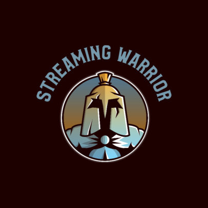 Gaming Logo Creator with a Warrior Insignia Graphic 4328a