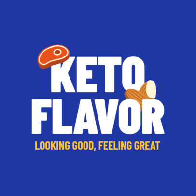 Logo Template for a Keto Diet-Focused Dietitian with Minimal Icons 4315i