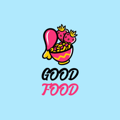 Modern Logo Maker with Healthy Food Graphics 4318d