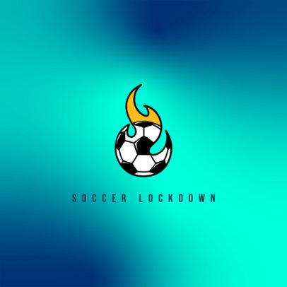Online Logo Template Featuring a Soccer Ball on Fire 4324f