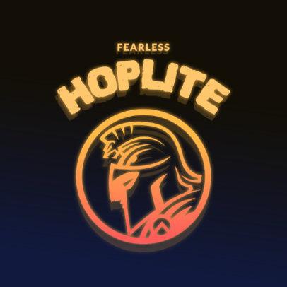 Gaming Logo Maker with a Spartan Warrior Emblem 4326l