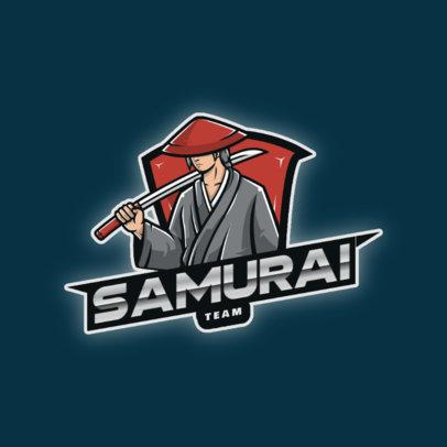 Team Logo Generator with a Mysterious Samurai Graphic 2296f-el1