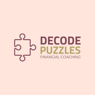 Online Logo Generator for a Financial Coaching  2551i 124-el