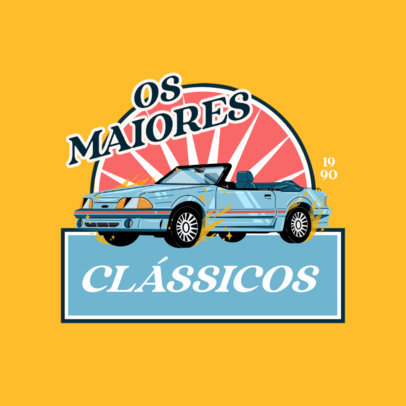 Logo Maker Featuring a Classic Car Graphic 4336