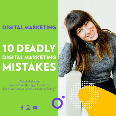 Instagram Post Maker for a Digital Marketing Webinar 3932-el1
