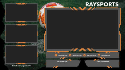 Twitch Overlay Template for Sports Channels Featuring Modern Frames 3665