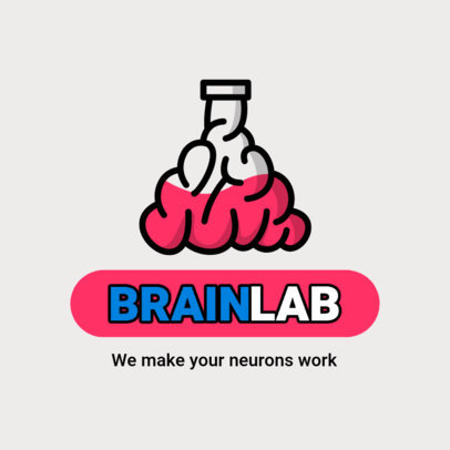 Online Education Logo Maker with Brain-Themed Graphics 3936-el1