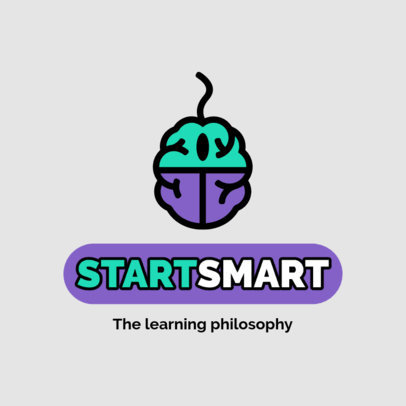 Education Logo Generator with a Brain-Shaped Computer Mouse Graphic 3926c-el1