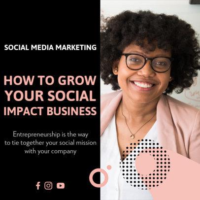 Instagram Post Generator With a Social Entrepreneurship Theme 3932e-el1