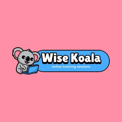 Logo Maker for Children's Online Tutoring Sessions Featuring a Happy Koala  3938e-el1