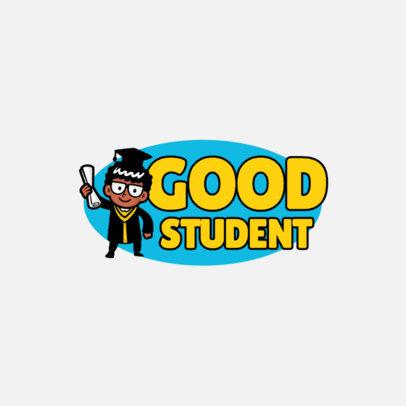 Education Logo Generator Featuring a Student Character 3940b-el1
