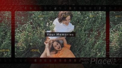 Slideshow Video Template With Vintage Filters 2963-el1