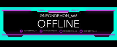 Neon-Colored Twitch Banner Maker for a Sports Streamer 3663d
