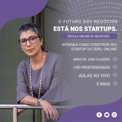 Instagram Post Template for an Entrepreneurship Startup Workshop 3924d-el1