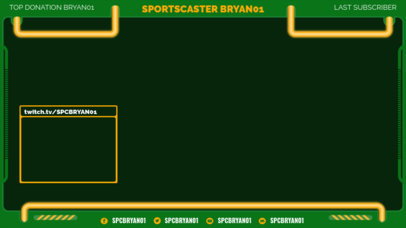 Simple Twitch Overlay Maker for a Sports-Focused Streamer 3663a