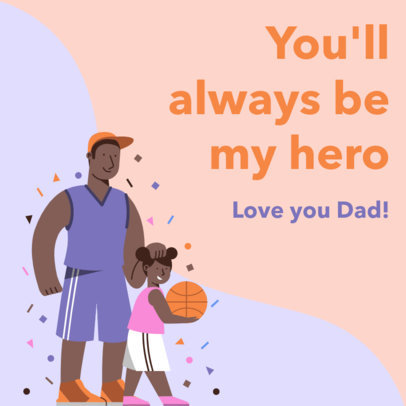 Father's Day Instagram Post Creator with a Sporty Theme 3666b