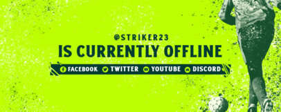 Twitch Banner Design Creator for Soccer Streamers 3664a
