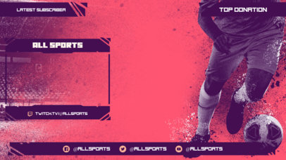 Twitch Overlay Design Maker for Soccer Games Streamers 3664d