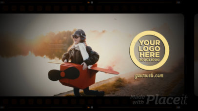Intro Video Template Featuring a Vintage Film Look 3034