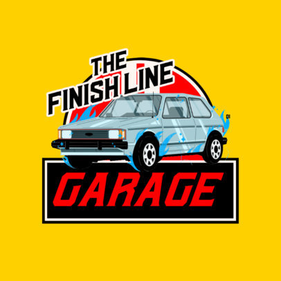 Logo Maker for a Garage Featuring a Retro Style 4336e