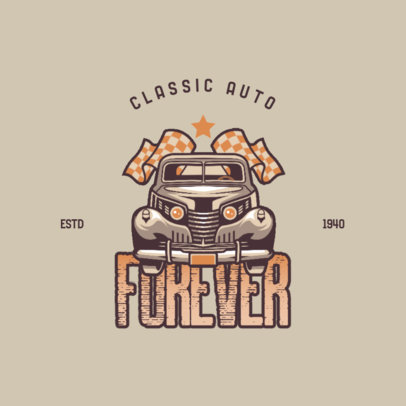 Automotive Logo Maker for a Classic Auto Club 4342d
