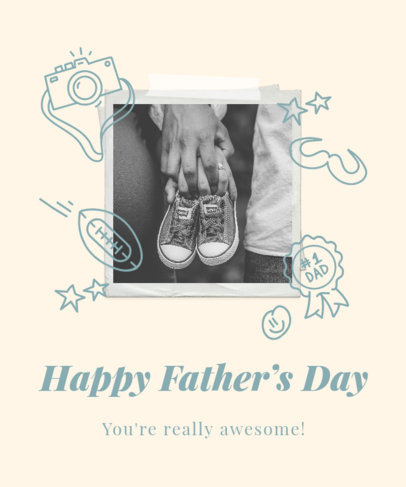 Father's Day T-Shirt Design Generator With a Pastel Color Scheme and Instant Picture Frames 3669h