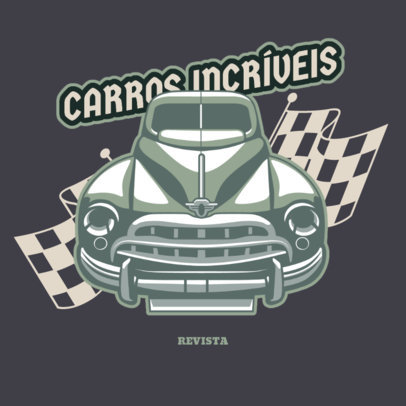 Automobile Repair Shop Logo Template With a Vintage Car Clipart 4340g