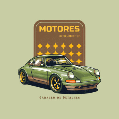 Illustrated Logo Generator for a Classic Rides-Only Garage 4338i