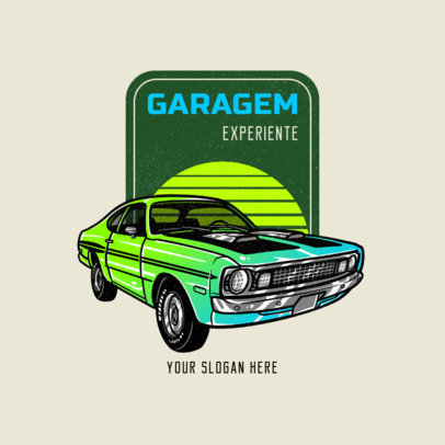 Logo Template for a Classic Sports Cars Garage 4338c