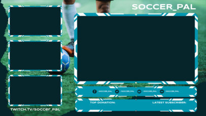 Twitch Overlay Maker Generator for a Soccer-Themed Streaming Channel 3665b