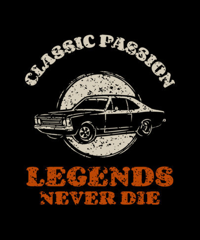 Vintage T-Shirt Design Template for a Classic Cars Club 3680