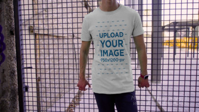 T-Shirt Video Featuring a Bold Young Man 3112v