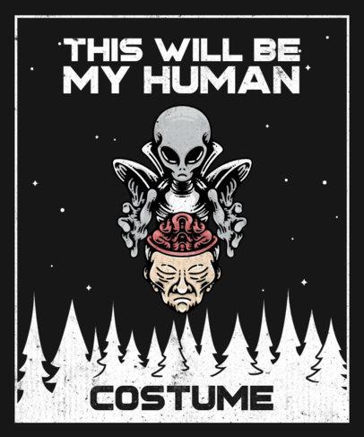 T-Shirt Design Maker Featuring a Mind-Controlling Alien Character 3963e-el1