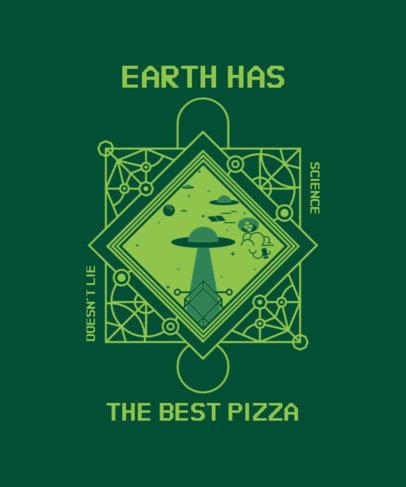 Quote T-Shirt Design Generator for World UFO Day 3957f-el1