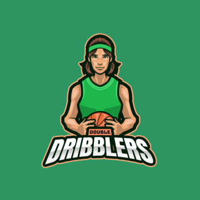 Logo Maker Featuring an Illustrated Basketball Player 3975a-el1
